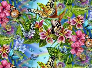 2204-blue-FLOWERS-AND-BUTTERFLIES