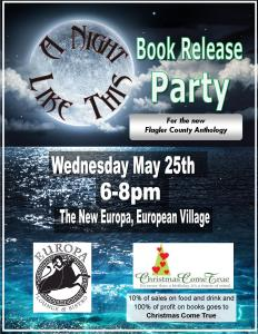 small book release party flier