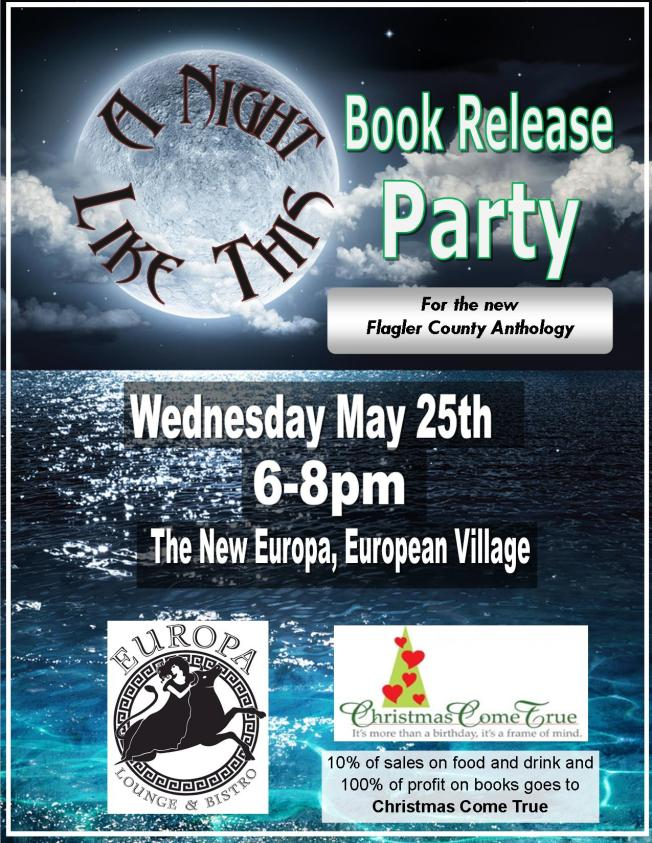 book release party flier